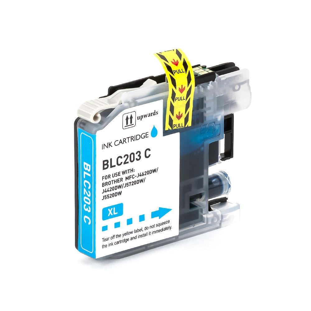 COMPATIBLE BROTHER LC205C EXTRA HIGH YIELD CYAN INK CARTRIDGE