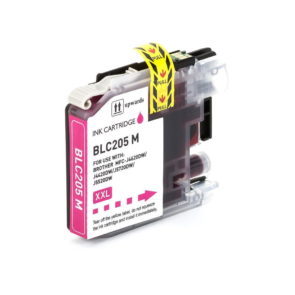 COMPATIBLE BROTHER LC205M EXTRA HIGH YIELD MAGENTA INKJET CARTRIDGE FILLED WITH AFTERMARKET INK