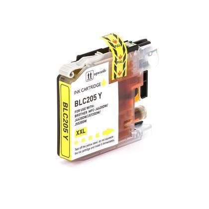 COMPATIBLE BROTHER LC205Y EXTRA HIGH YIELD YELLOW INKJET CARTRIDGE FILLED WITH AFTERMARKET INK
