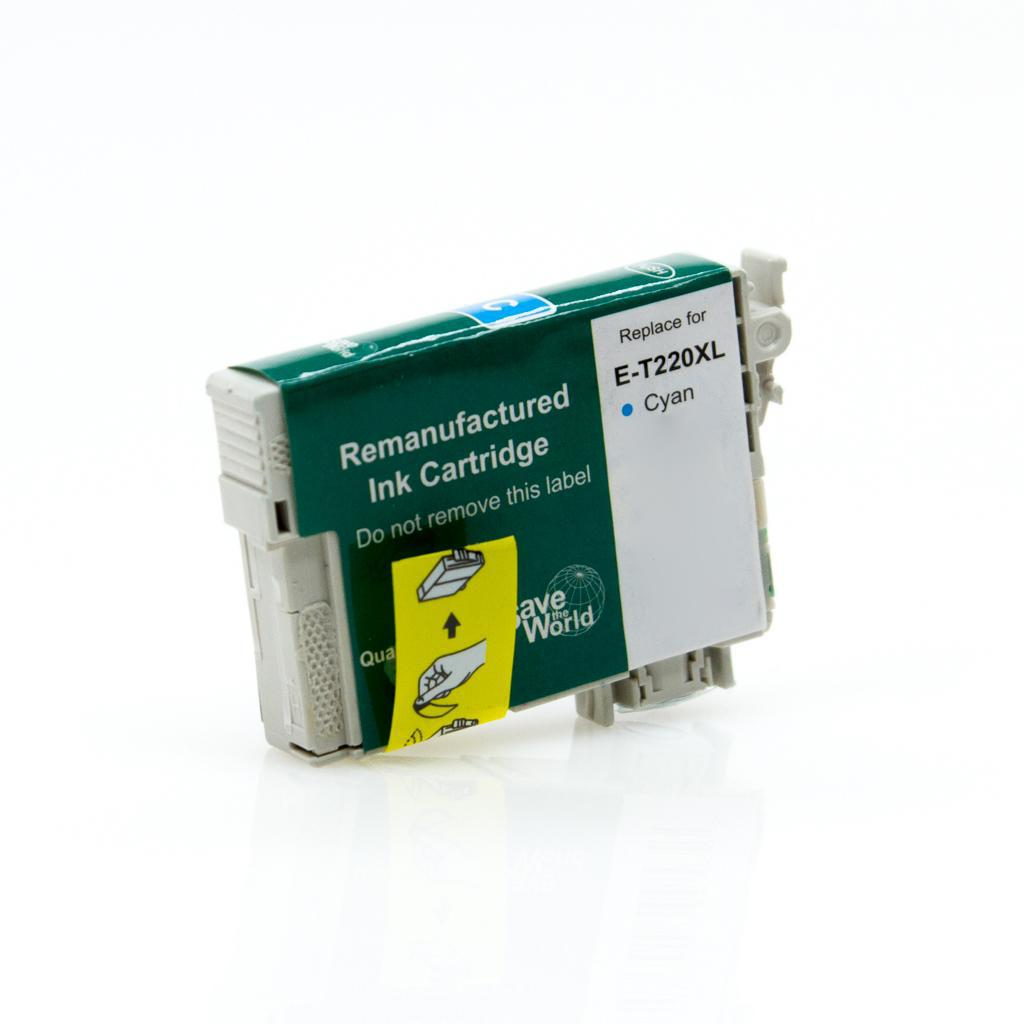 REMANUFACTURED EPSON T220XL (T220XL220) CYAN INK CARTRIDGE