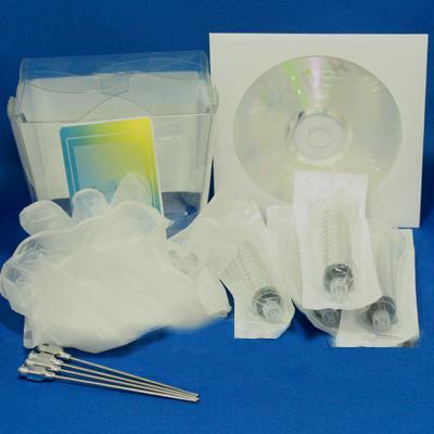 4 Color Kit - 4 Syringes, 4 Needles, Gloves, Drill Tools, 2oz CLI8 C,M,Y w/PGI5 Black Inkset