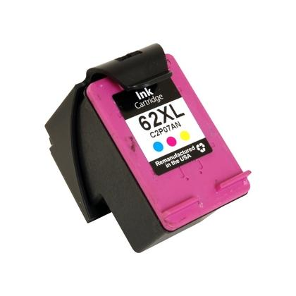 REMANUFACTURED HP C2P07AN (62XL) HIGH YIELD TRI COLOR INK CARTRIDGE