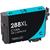 REMANUFACTURED EPSON T288XL (T288XL220) HIGH YIELD CYAN INK CARTRIDGE