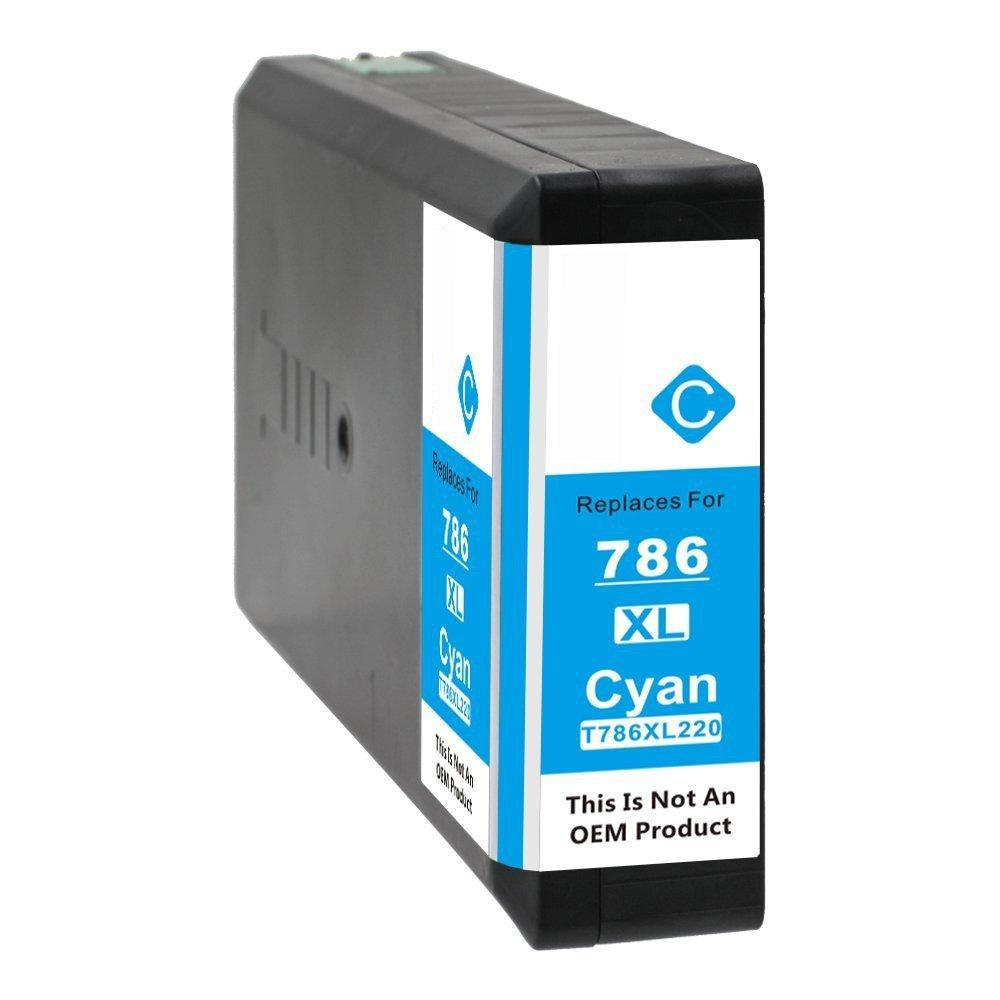 REMANUFACTURED EPSON T786 CYAN CARTRIDGE (T786XL220)
