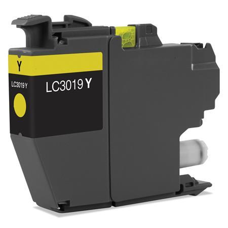 COMPATIBLE BROTHER LC3019BK SUPER HIGH YIELD YELLOW INK CARTRIDGE