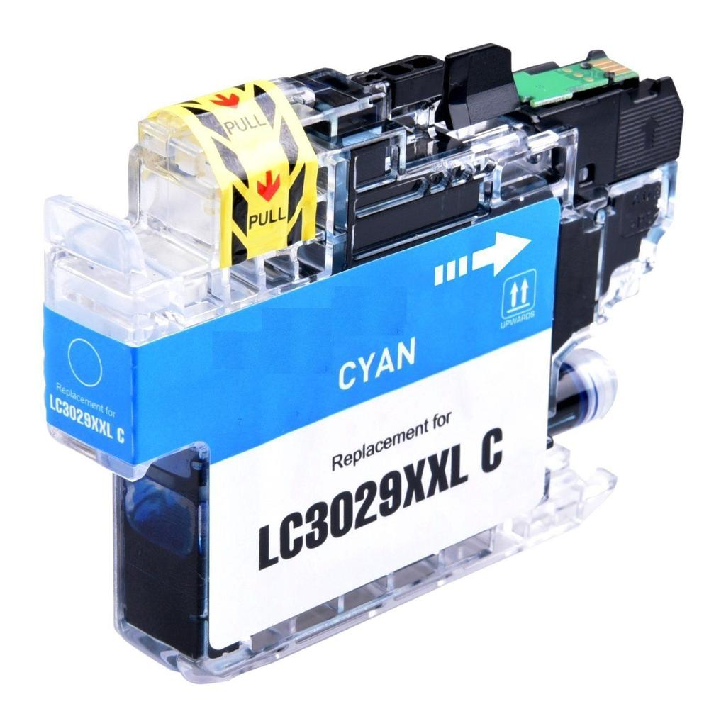 COMPATIBLE BROTHER LC3029C SUPER HIGH YIELD CYAN INKJET CARTRIDGE