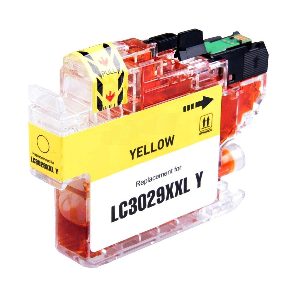 COMPATIBLE BROTHER LC3029Y SUPER HIGH YIELD YELLOW INK CARTRIDGE