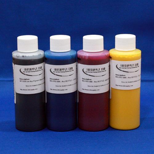DYEBASE INKSET (CMYK) EPSON STY 3000 - FOUR 4 oz BOTTLES