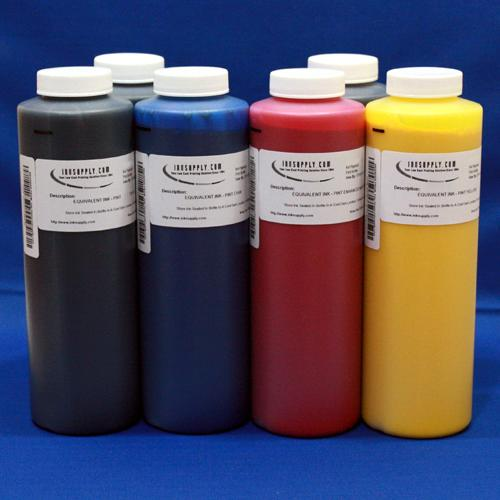 DYEBASE INKSET (CMYK-PC-PM) EPSON PHOTO 1200 - SIX 16 oz BOTTLES - NEW LOW PRICE