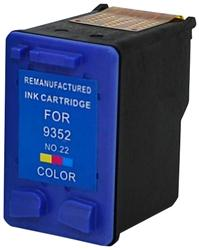 REMANUFACTURED HP C9352AN (22) TRI COLOR INK CARTRIDGE