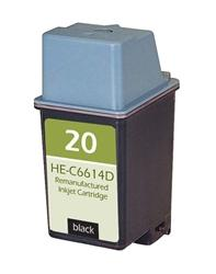 REMANUFACTURED HP C6614D (20) BLACK INK CARTRIDGE