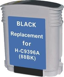 REMANUFACTURED HP C9396AN, C9385AN (88XL) HIGH YIELD BLACK INK CARTRIDGE