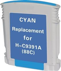 REMANUFACTURED HP C9391AN, 9386AN (88XL) HIGH YIELD CYAN INK CARTRIDGE