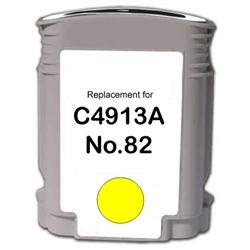 REMANUFACTURED HP C4913AN (82) YELLOW INK CARTRIDGE