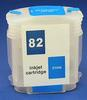 HP Refill Friendly High Capcity Cyan #82 Cartridge - Empty No Ink