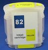 HP Refill Friendly High Capcity Yellow #82 Cartridge - Empty No Ink