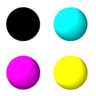 MIS HT inkset 4 colors K,C,M,Y