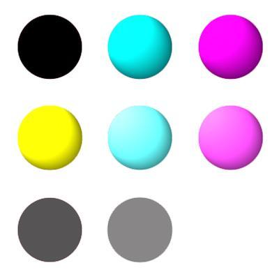 MIS HT inkset 8 colors K,C,M,Y,Lc,Lm,Lk,Llk