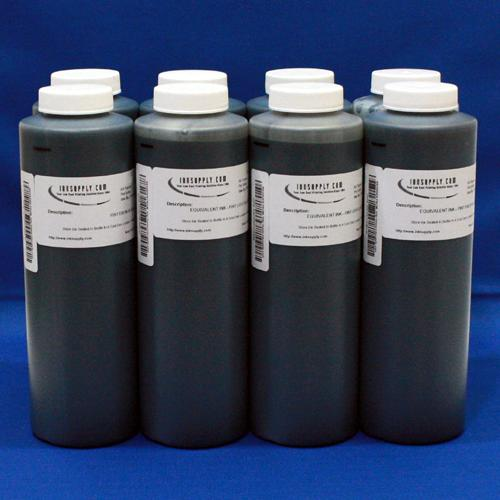 MIS BLACK ONLY EBONI v1.1 INK FOR (K, PK, GLOP) POS, AND MIS R800 UC EQUIVALENT COLOR INK FOR (C, M, Y, R, B) POSITIONS - 8 PINT BOTTLES - (POSSIBLE 24-48 HOUR LEAD TIME)