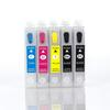 Empty Set of 5 (Dual Black) T068 (68) High Capacity Cartridges W/ QUICK RESET CHIP
