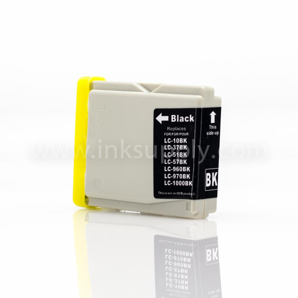 REMANUFACTURED BROTHER LC51BK BLACK INKJET CARTRIDGE FILLED WITH AFTERMARKET COMPATABLE INK