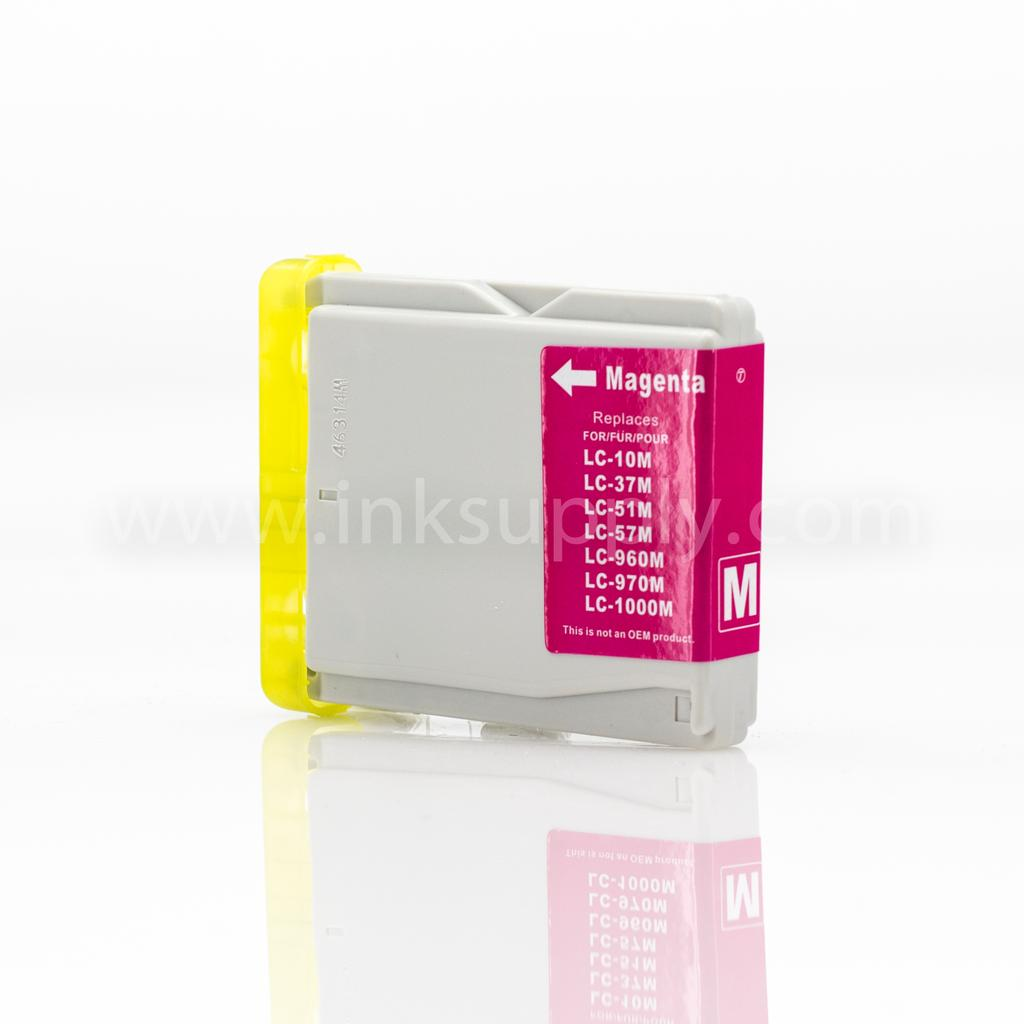REMANUFACTURED BROTHER LC51M MAGENTA INKJET CARTRIDGE FILLED WITH AFTERMARKET COMPATABLE INK