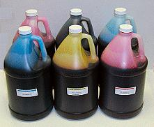 MIS MP (MISPRO) Pigment Color Gallon Inkset 5 Colors C,M,Y,MK, MK (Univ Black)
