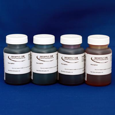 Inksupply HP2000 Inkset - Dyebase C,M,Y with Pigment Black - 4x 120ml (4oz) Bottles