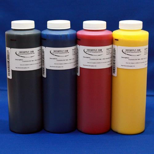 Inksupply HP2000 Inkset - Dyebase C,M,Y with Pigment Black - 4x 480ml (16.2oz) Bottles