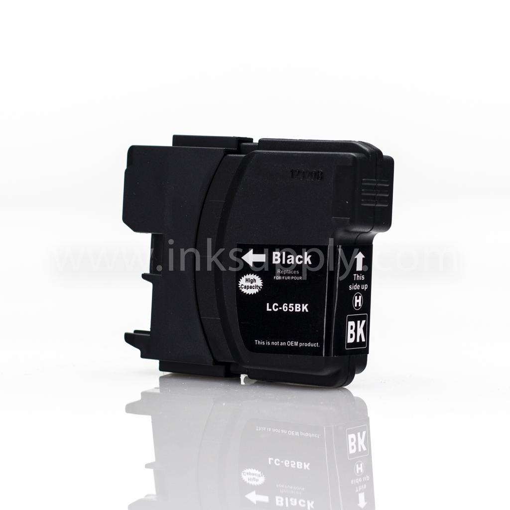 COMPATIBLE BROTHER LC65HYBK HIGH YIELD BLACK INKJET CARTRIDGE FILLED WITH AFTERMARKET COMPATABLE INK