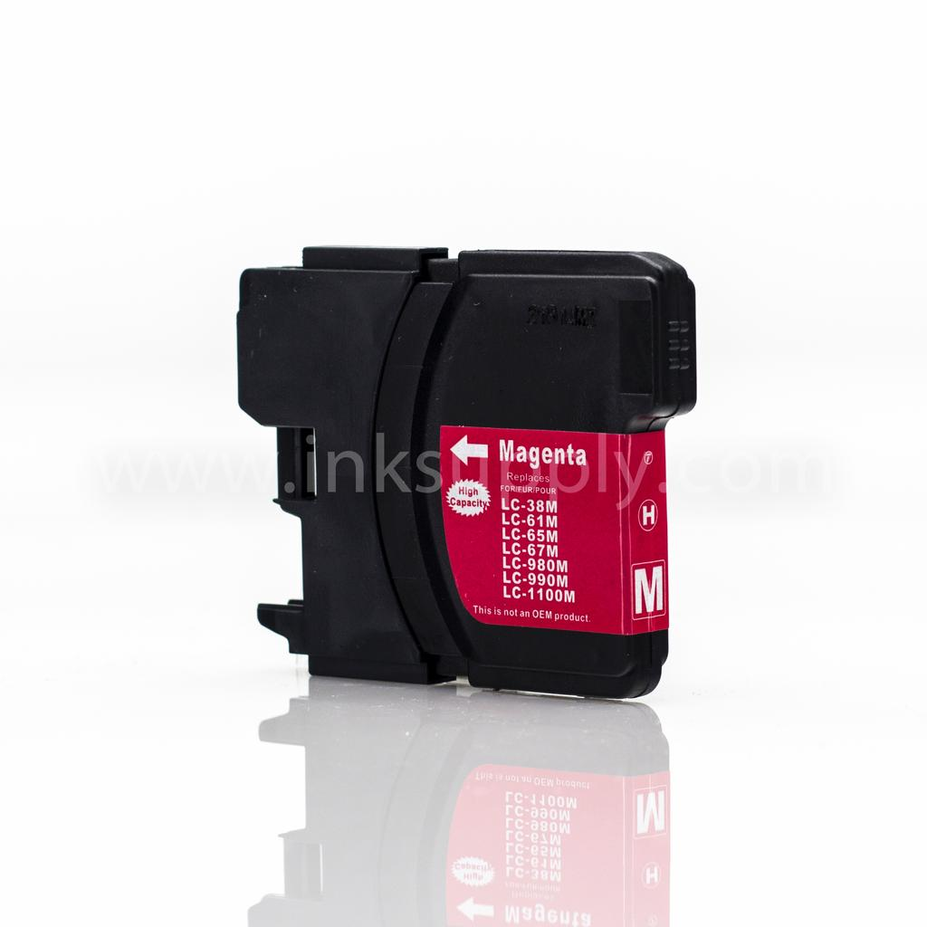 COMPATIBLE BROTHER LC65HYM HIGH YIELD MAGENTA INKJET CARTRIDGE FILLED WITH AFTERMARKET COMPATABLE INK