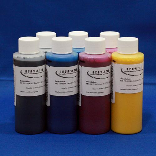 PICTURE MATE INK SET - 7 FOUR OUNCE BOTTLES OF INK (K,PK,C,M,Y,RD,BL)