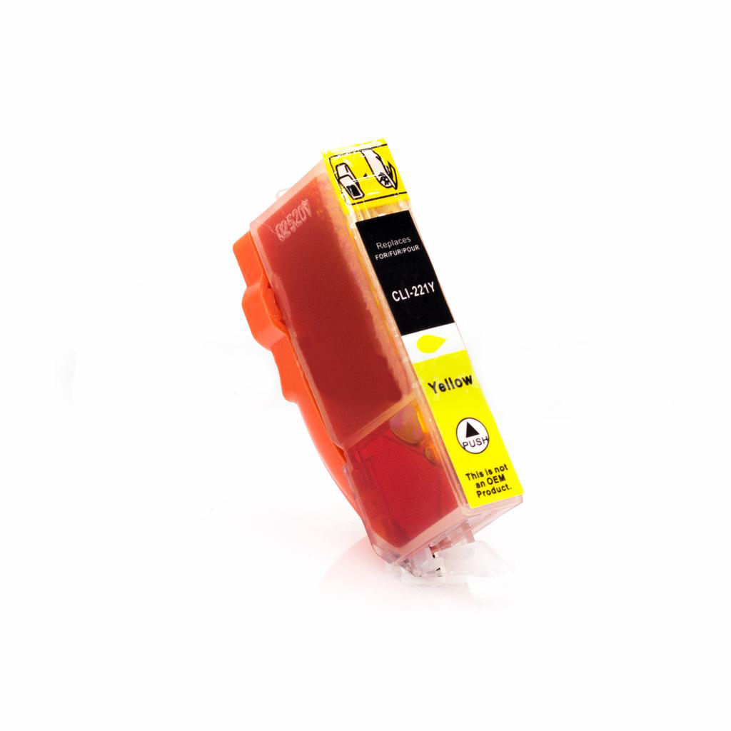 Compatible CLI221 Yellow Cartridge For Canon Printers - Not OEM