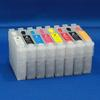 Empty Set of 8 T087 (87) High Capacity Cartridges W/ QUICK RESET CHIP