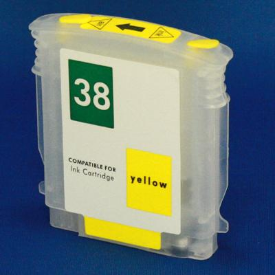 EMPTY YELLOW HP REFILLABLE CARTIRDGE #38