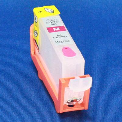 Empty Aftermarket CLI-221 MAGENTA CARTRIDGE (THIN) W/ QUICK RESET CHIP