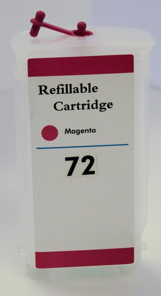HP #72 (HP72) Refill Friendly High Capacity Compatible Magenta Cartridge (130ml) - Empty No Ink
