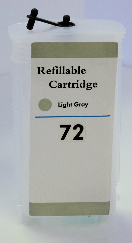 HP #72 (HP72) Refill Friendly High Capacity Compatible Grey Cartridge (130ml) - Empty No Ink