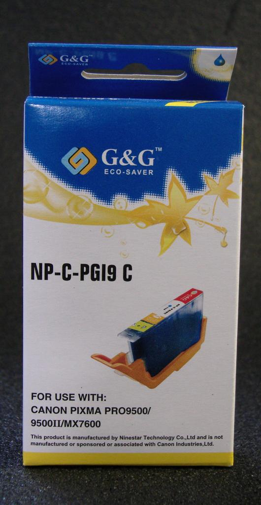 Compatible PGI-9 CYAN CARTRIDGE WITH AFTERMARKET PIGMENT INK - Not OEM