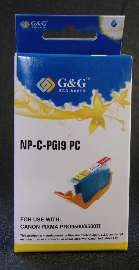 Compatible PGI-9 PHOTO CYAN CARTRIDGE WITH AFTERMARKET PIGMENT INK - Not OEM