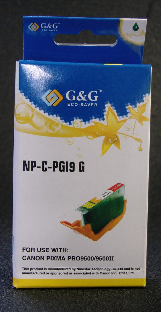 Compatible PGI-9 GREEN CARTRIDGE WITH AFTERMARKET PIGMENT INK - Not OEM