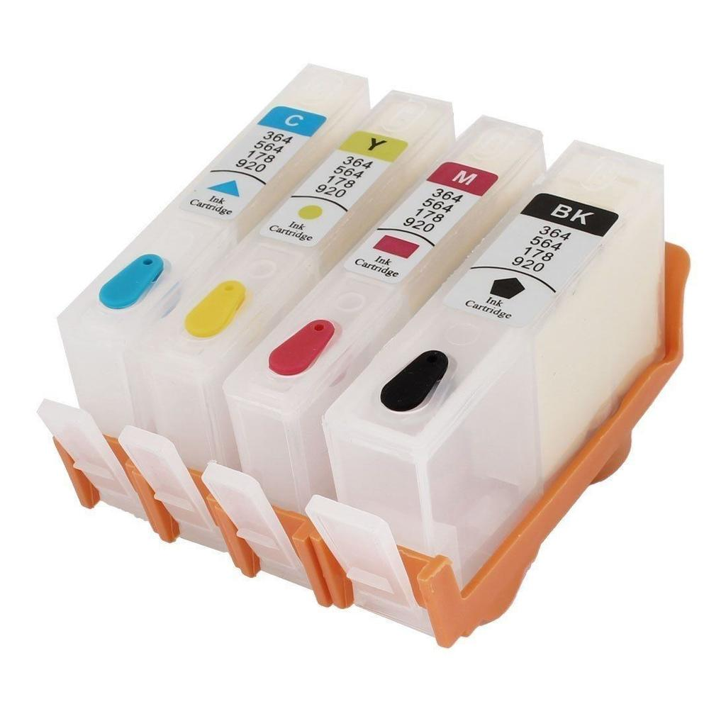 COMPATIBLE EMPTY HP 564XL 4 CARTRIDGE SET (K,C,M,Y)