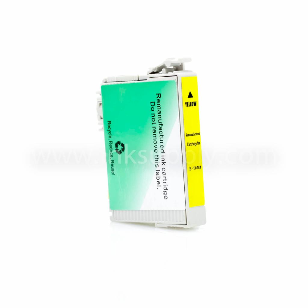 REMANUFACTURED EPSON T0784 (T078420) YELLOW INK CARTRIDGE