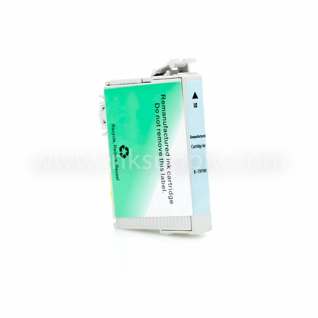 REMANUFACTURED EPSON T0785 (T078520) LIGHT CYAN INK CARTRIDGE