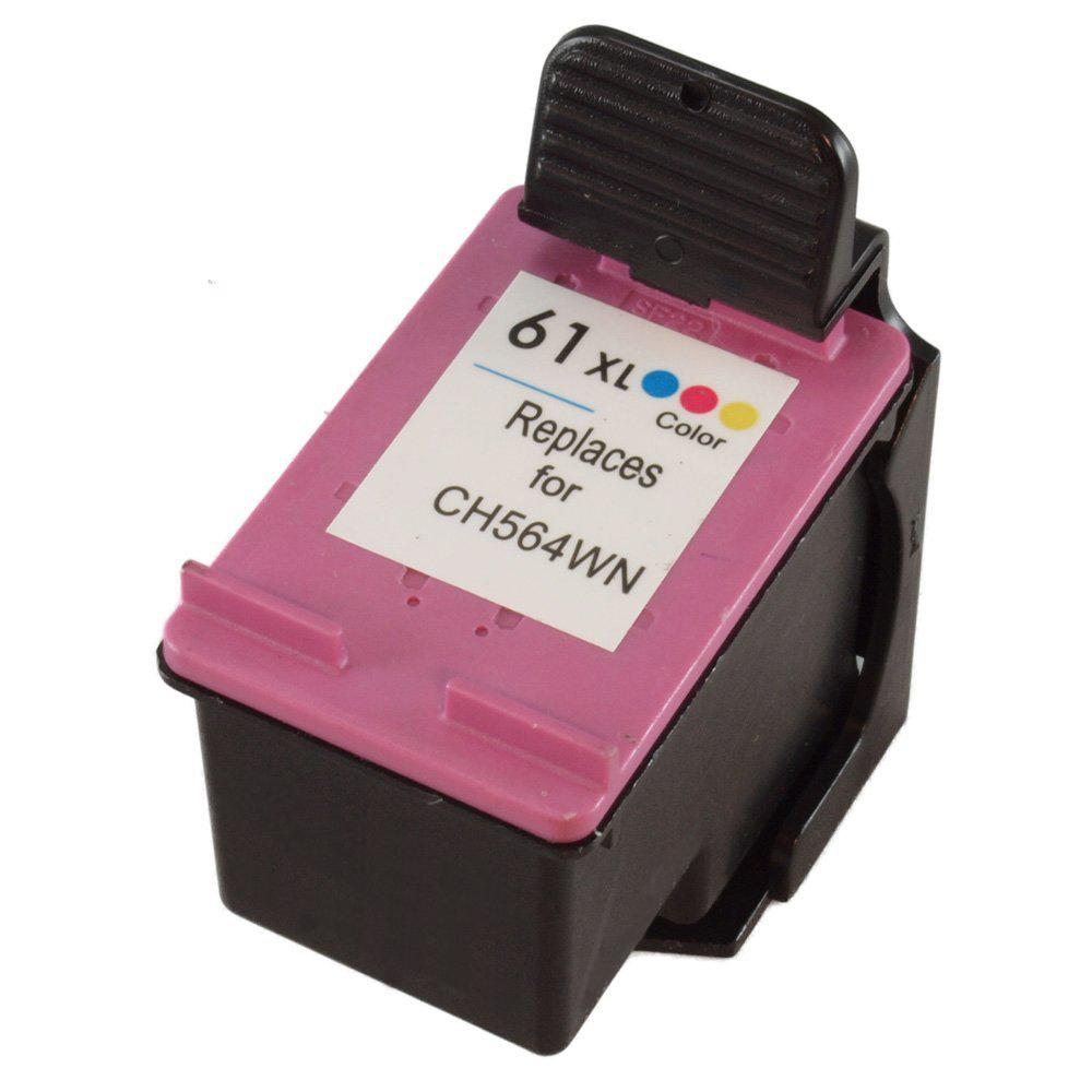 REMANUFACTURED HP CH564WN (61XL) HIGH YIELD TRI COLOR INK CARTRIDGE