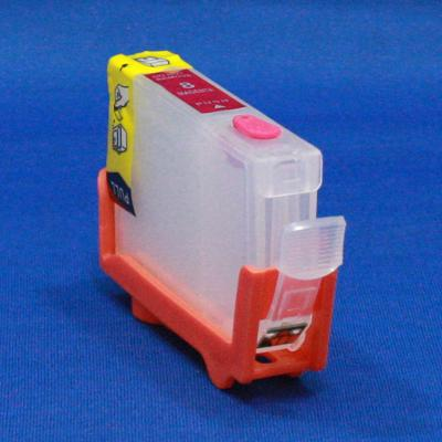EMPTY REFILLABLE CLI-8 MAGENTA CARTRIDGE W/QUICK RESET CHIP