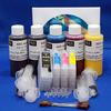 REFILL KIT FOR 4 COLOR (#T0971 and #T0692-#T0694) EPSON PRINTERS - KIT CONTAINS ACCESSORIES, EMPTY CARTRIDGES AND 2oz. COLOR POSITIONS, 4oz MK.