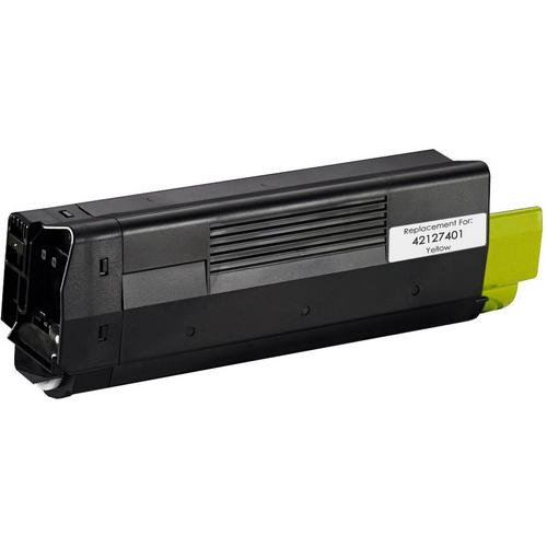 Okidata Remanufactured 42127401 Yellow Toner Cartridge