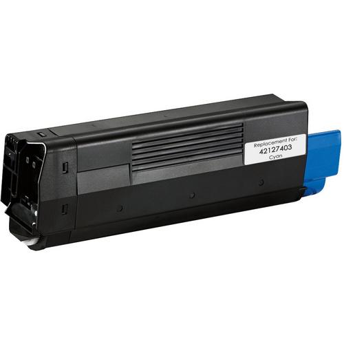 REMANUFACTURED OKIDATA 42127403 CYAN LASER TONER CARTRIDGE