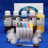 50 CARTRIDGE EQUIVALENT HT INKSUPPLY REFILL KIT (5 COLOR POSITION) - KIT CONTAINS 4OZ. HEAT TRANSFER COLOR INK SET, REFILL ACCESSORIES AND EMPTY CARTRIDGES